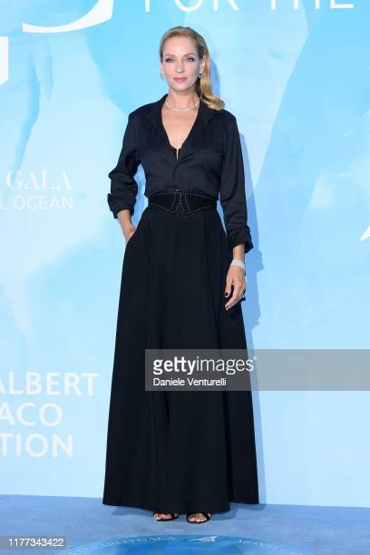 Uma Thurman attends the Gala for the Global Ocean hosted by HSH Prince Albert II of Monaco at Opera of MonteCarlo on September 26 2019 in MonteCarlo...