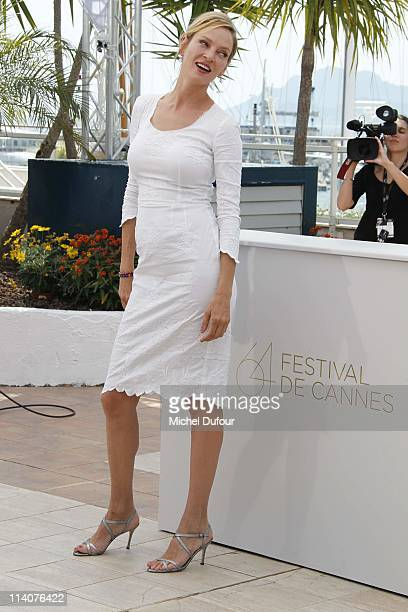 Uma Thurman attends the Jury Photocall during the 64th Cannes Film Festival at Palais des Festivals on May 11 2011 in Cannes France
