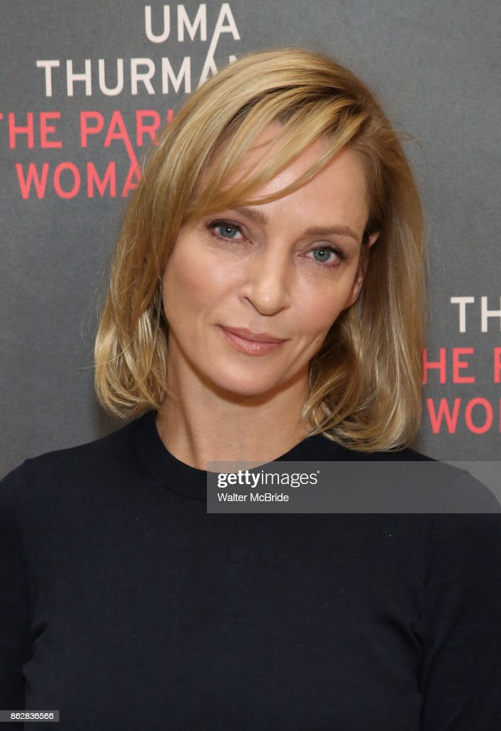 Uma Thurman attends the Meet & Greet Photo Call for the cast of Broadway's 'The Parisian Woman' at the New 42nd Street Studios on October 18, 2017 in New York City.