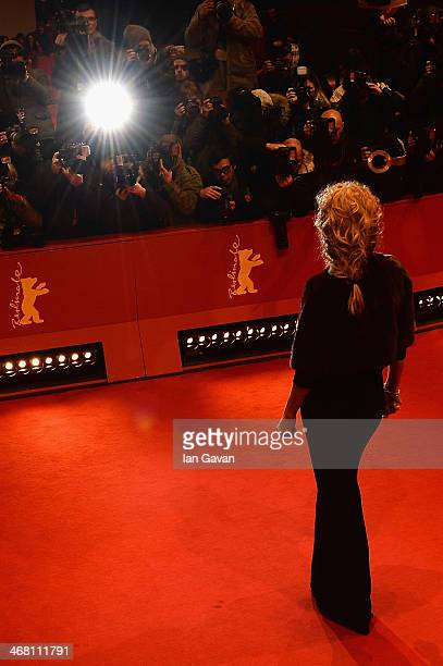 Uma Thurman attends the 'Nymphomaniac Volume I ' premiere during 64th Berlinale International Film Festival at Berlinale Palast on February 9 2014 in...