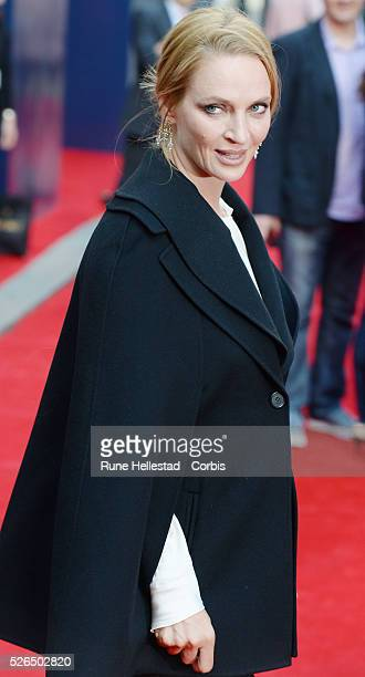Uma Thurman attends the opening night of Charlie And The Chocolate Factory at Theatre Royal