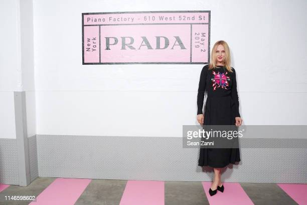 Uma Thurman attends the Prada Resort 2020 fashion show at Prada Headquarters on May 02 2019 in New York City