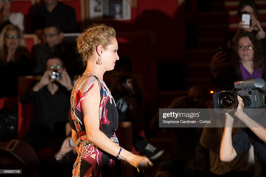 Uma Thurman attends the Tribute to Quentin Tarantino, during the 5th Lumiere Film Festival, in Lyon.