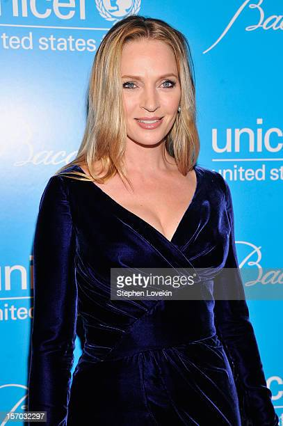 Uma Thurman attends the Unicef SnowFlake Ball at Cipriani 42nd Street on November 27 2012 in New York City