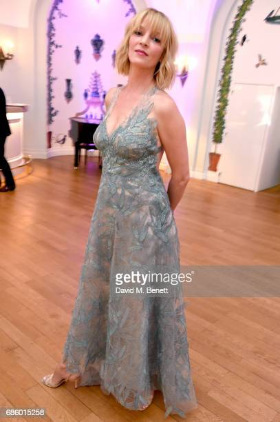 Uma Thurman attends the Vanity Fair and HBO Dinner celebrating the Cannes Film Festival at Hotel du CapEdenRoc on May 20 2017 in Cap d'Antibes France