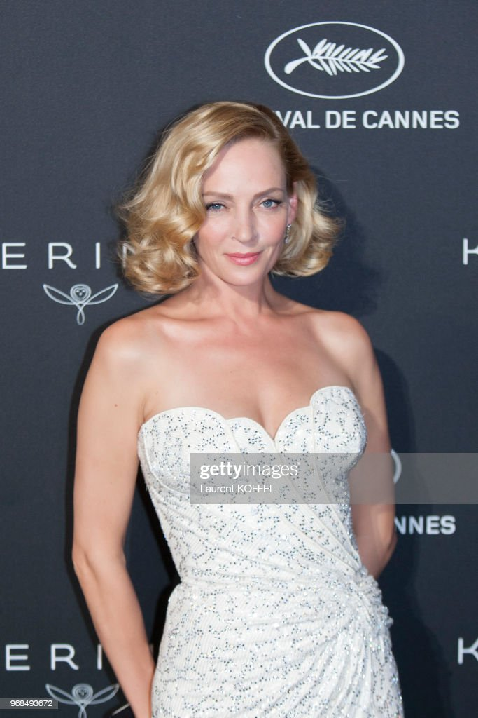 Uma Thurman attends the Women in Motion Awards Dinner at the 70th Cannes Film Festival at Place de la Castre on May 21, 2017 in Cannes, France.