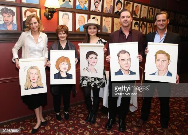 "Uma Thurman, Blair Brown, Phillipa Soo, Marton Csokas and Josh Lucas from the Broadway cast of ""The Parisian Woman"" honored with a Sardi's Wall of..."