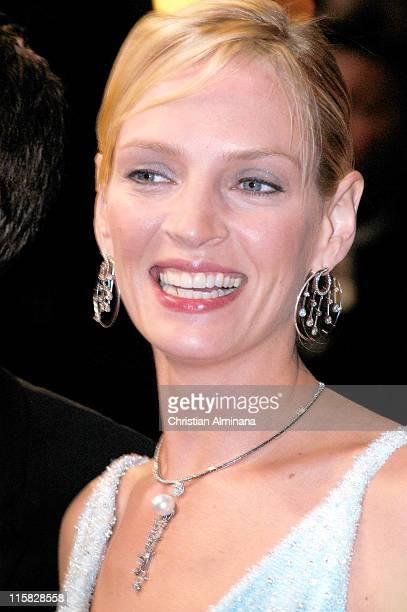 "Uma Thurman during 2004 Cannes Film Festival - ""Kill Bill Vol. 2"" - Premiere at Palais Du Festival in Cannes, France."
