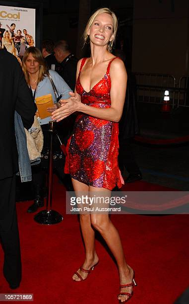 Uma Thurman during 'Be Cool' Los Angeles Premiere Arrivals at Chinese Theater in Hollywood California United States
