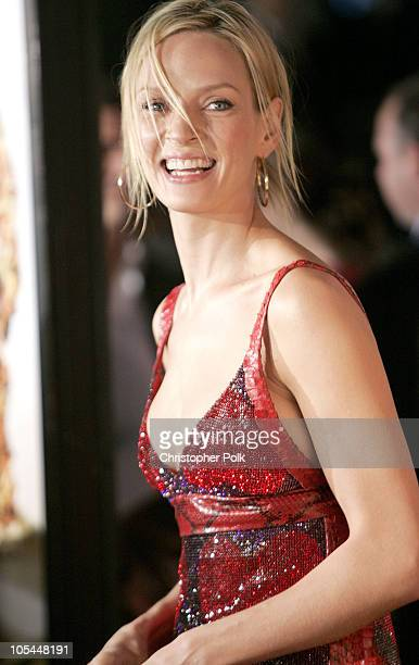 Uma Thurman during 'Be Cool' Los Angeles Premiere Arrivals at Grauman's Chinese Theater in Hollywood California United States