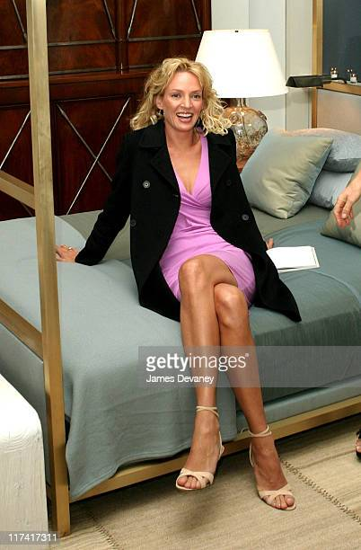 Uma Thurman during Esquire Apartment 2003 Launch Party Inside at Esquire Apartment Trump World Tower in New York City New York United States