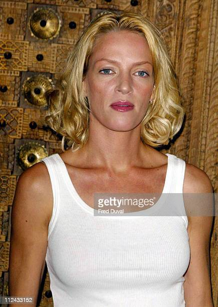 Uma Thurman during 'Kill Bill Vol 1' London Press Conference at Ritz Hotel in London Great Britain