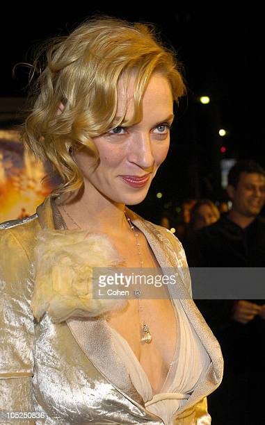 Uma Thurman during 'Paycheck' World Premiere Red Carpet at Graumann's Chinese Theater in Hollywood California United States