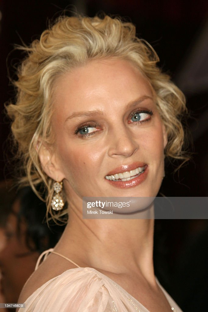 Uma Thurman during The 78th Annual Academy Awards - Arrivals at Kodak Theatre in Hollywood, California, United States.