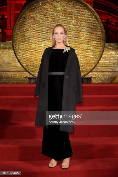 Uma Thurman during The Fashion Awards 2018 In Partnership With Swarovski at Royal Albert Hall on December 10 2018 in London England