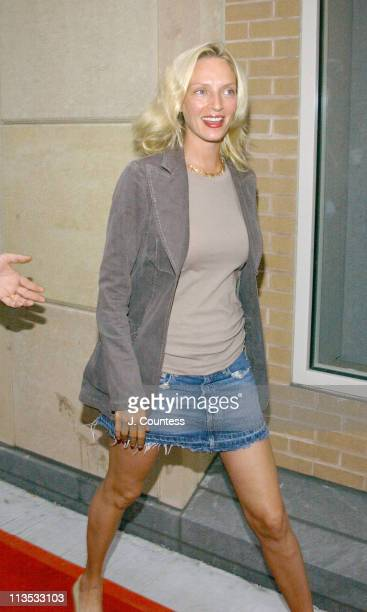 Uma Thurman during THE WEEK Magazine hosts Premiere of 'The Hunting of the President' Arrivals at Skirball Center for the Performing Arts in New York...