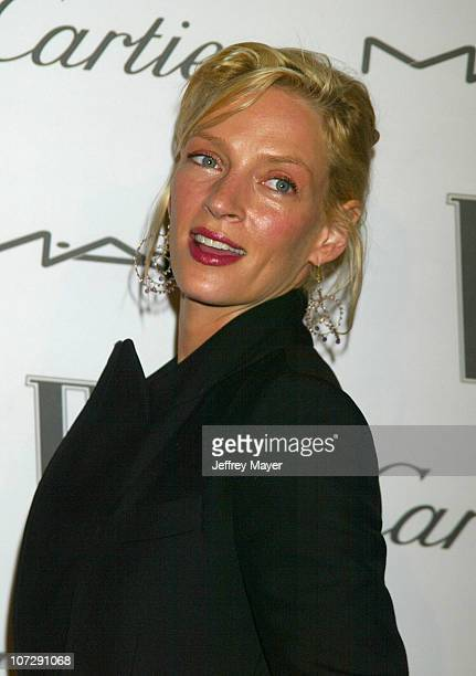 Uma Thurman during W Magazine Celebrates Their Hollywood A-List Issue With Their First Golden Globes Event Presented With Cartier And M.A.C Cosmetics...