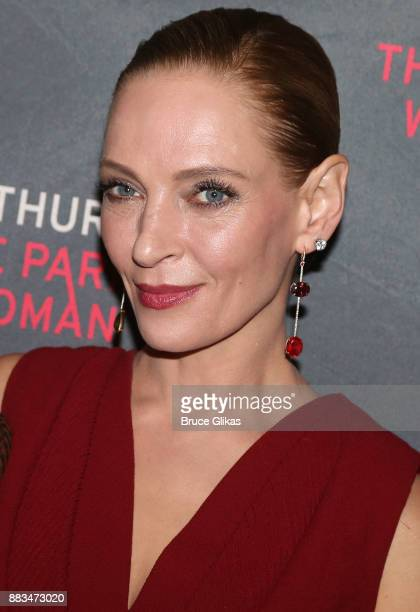 Uma Thurman poses at The Opening Night Party for 'The Parisian Woman' on Broadway at Sardis on November 30 2017 in New York City