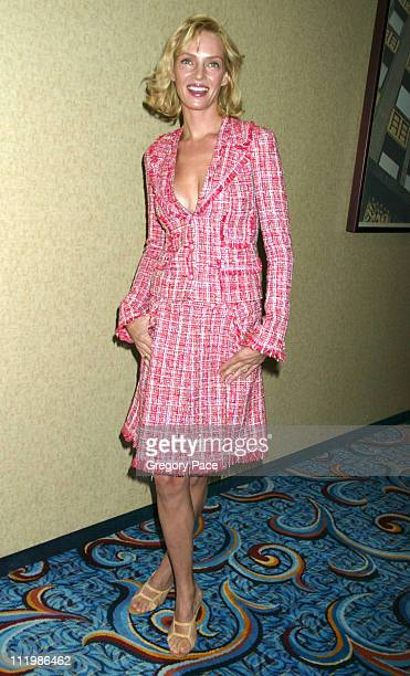 Uma Thurman wearing Chanel during The 63rd Annual Motion Picture Club Awards and Installation Luncheon at Marriot Marquis in New York City New York...