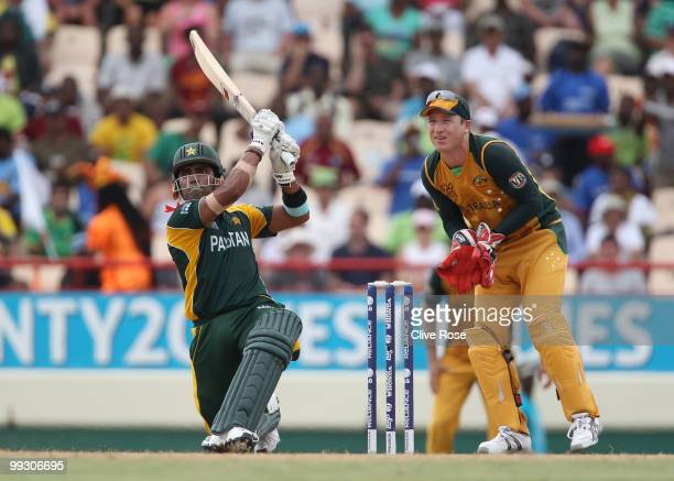 Umar Akmal of Pakistan in action during the ICC World Twenty20 semi final between Australia and Pakistan at the Beausjour Cricket Ground on May 14...