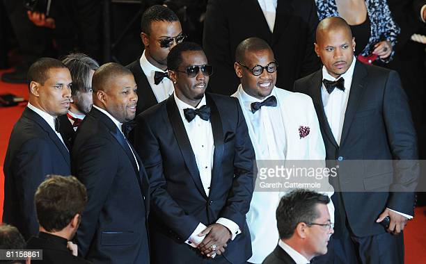 Umar Dzhabrailov music producer Andre Hurrell and Sean Diddy Combs attend the 'Two Lovers' Premiere at the Palais des Festivals during the 61st...