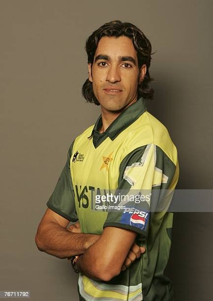 Umar Gul of Pakistan poses during the ICC Twenty20 World Cup Headshots on September 6 2007 in Johannesburg South Africa