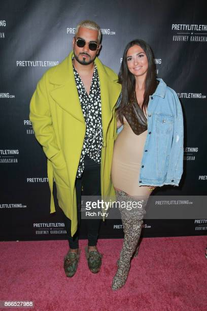 Umar Kamani and guest attends the launch of PrettyLittleThing by Kourtney Kardashian at Poppy on October 25 2017 in Los Angeles California