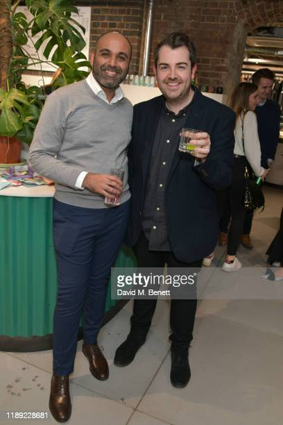 Umar Mehter and Arran Main attend the launch of Femme by Daisy Lowe x Jemima Sara at Wolf Badger on November 21 2019 in London England