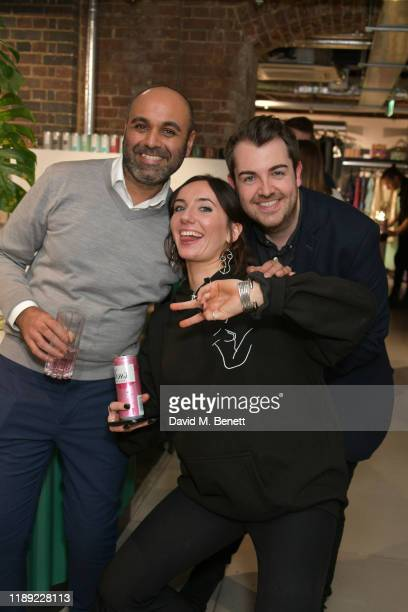 Umar Mehter Jemima Sara and Arran Main attend the launch of Femme by Daisy Lowe x Jemima Sara at Wolf Badger on November 21 2019 in London England