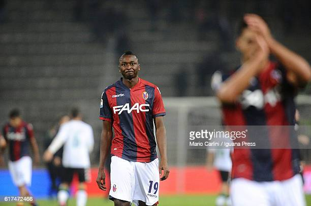 Umar Sadiq of Bologna FC looks dejected at the end of the Serie A match between Bologna FC and US Sassuolo at Stadio Renato Dall'Ara on October 23...
