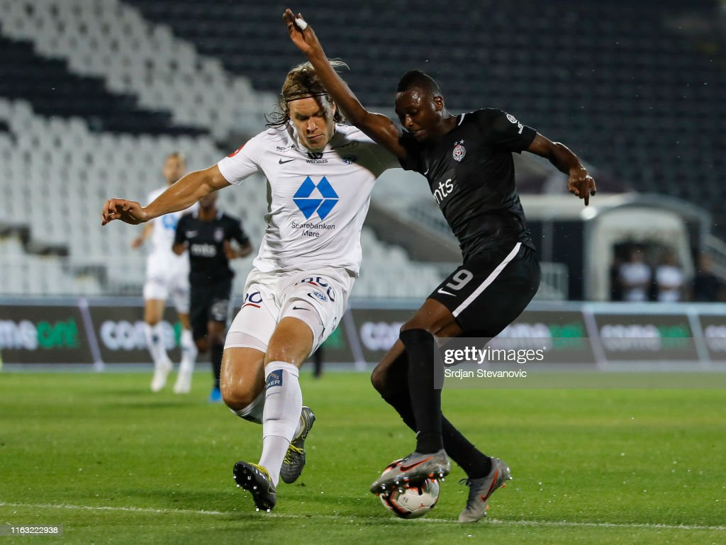 Partizan Belgrade v Molde - UEFA Europa League Play Off: First Leg : News Photo