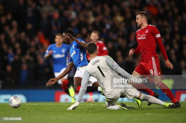 Umar Sadiq of Rangers dives in an attempt to gain a penalty during the Betfred Scottish League Cup Semi Final between Aberdeen and Rangers at Hampden...
