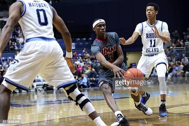 UMass Minutemen guard Dejon Jarreau passes the ball during the second half of an NCAA basketball game between UMass Minutemen and Rhode Island Rams...