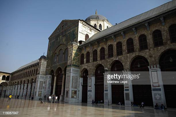 Umayyad Mosque also known as the Great Mosque of Damascus on March 29 2011 in Syria The mosque is regarded as the fourthholiest site in Islam and is...
