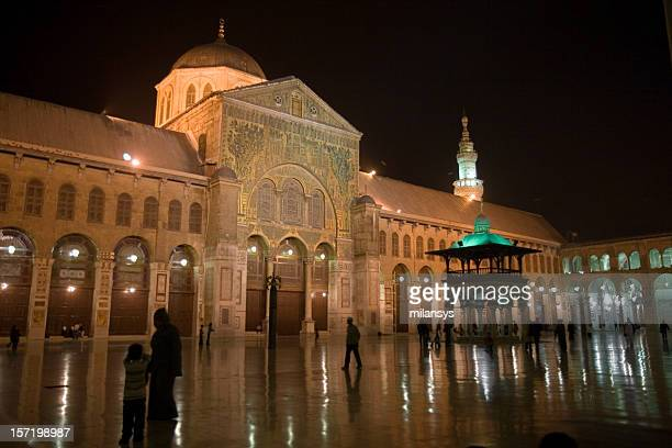 Umayyad Mosque in Damascus at night