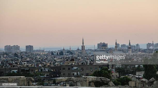 Umayyad Mosque in the heart of the capital Damascus on June 22 2015