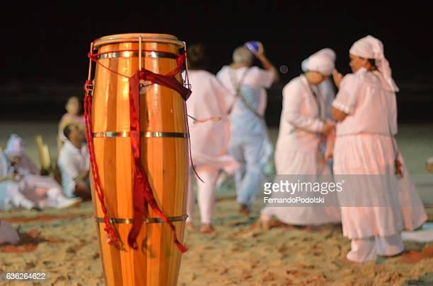 umbanda group and atabaque - iemanja imagens e fotografias de stock