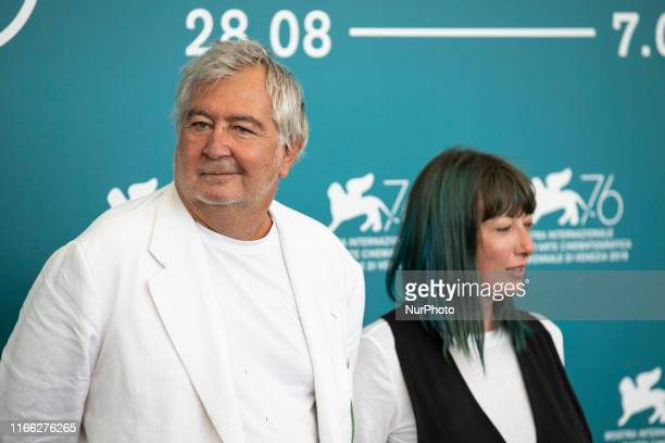 Umberto Contarello and Sara Mosetti attend the ''Tutto il mio folle amore'' Photocall during the 76th Venice Film Festival at on September 06, 2019...