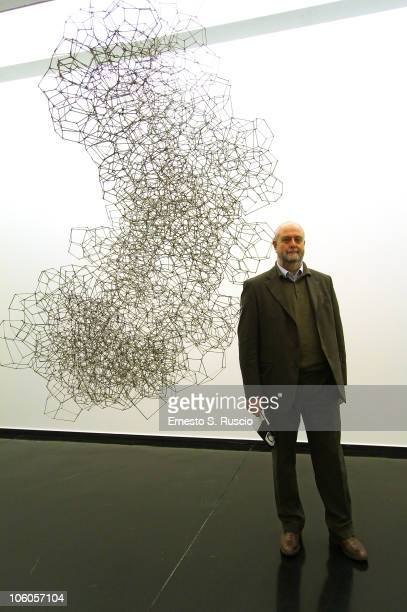 Umberto Croppi attends the Museum of Contemporary Art of Rome exhibitions press preview during the 5th International Rome Film Festival on October 25...
