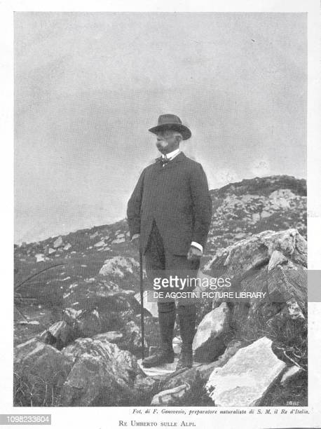 Umberto I of Savoy King of Italy on the Alps photo by G Genovesio