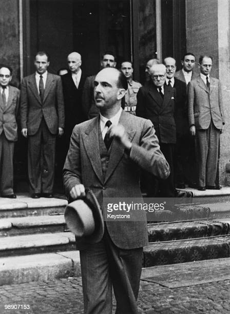 Umberto II last king of of Italy leaves the Quirinal Palace in Rome on the final day of his 33day reign 12th June 1946 Umberto left for exile in...