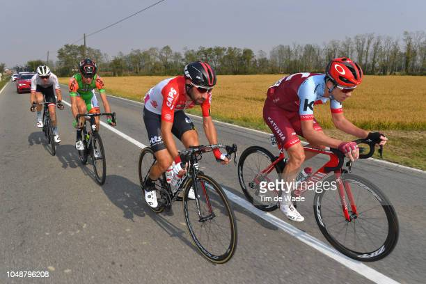 Umberto Orsini of Italy and Team Bardiani CSF / Willie Smit of South Africa and Team KatushaAlpecin / Thomas De Gendt of Belgium and Team Lotto...