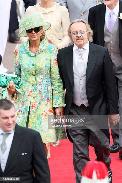 Umberto Tozzi and guest attend the religious ceremony of the Royal Wedding of Prince Albert II of Monaco to Princess Charlene of Monaco in the main...