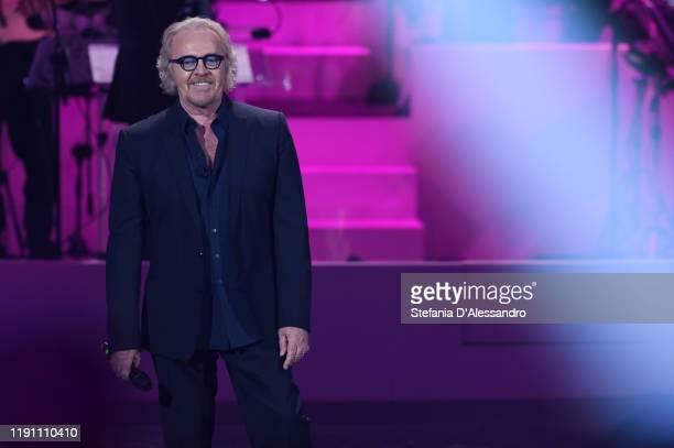 """Umberto Tozzi attends the """"20 anni che siamo italiani"""" tv show on November 27, 2019 in Milan, Italy."""