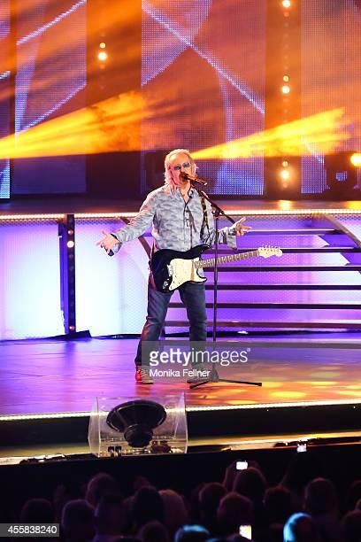 Umberto Tozzi performs live on stage at the 'Starnacht aus der Wachau' on September 20, 2014 in Rossatz, Austria.