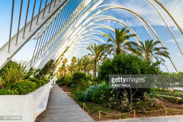 L'Umbracle in City of Arts and Sciences in Valencia. Valencia, Valencian Community, Spain.