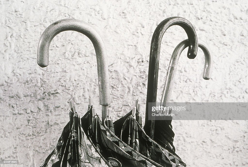 Umbrella handles : Stock Photo