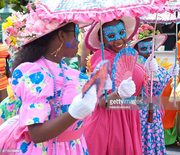 umbrella dames - port of spain stock photos and pictures
