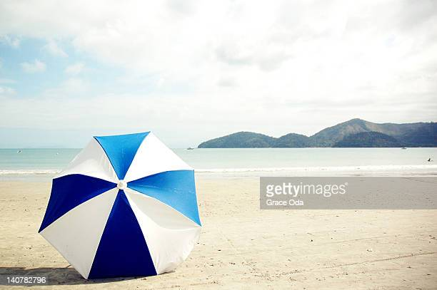 Umbrella on sand