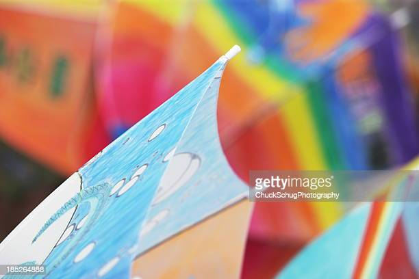 umbrella parasol abstract - painting art product stock pictures, royalty-free photos & images